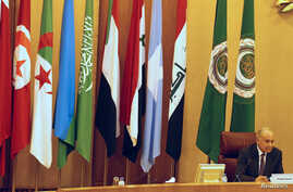 Arab League Secretary-General Ahmed Aboul Gheit attends the Arab League foreign ministers emergency meeting on U.S. President Donald Trump's decision to recognise Jerusalem as the capital of Israel, in Cairo, Egypt, Feb. 1, 2018.