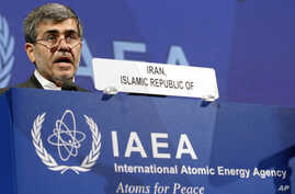 Fereidoun Abbasi Davani, Iran's Vice President and Head of Atomic Energy Organization delivers a speech at the general conference of the International Atomic Energy Agency, IAEA, at the International Center, in Vienna, Austria, Sept. 17, 2012.