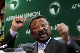 African Union Commission chairperson Jean Ping addresses a news conference at the African Union Summit in Addis Ababa, January 29, 2011.