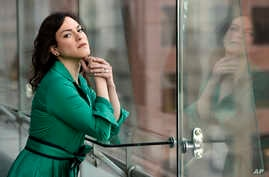 """Chilean trans actress Daniela Vega, a cast member in the film """"A Fantastic Woman,"""" poses for a portrait at the The Adelaide Hotel during the Toronto International Film Festival in Toronto, Sept. 9, 2017."""