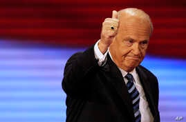 FILE - Former U.S. senator and actor Fred Thompson is seen in a Sept. 2, 2008, photo.