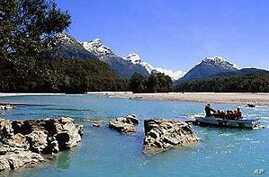 The Great River in the Valley of Nun Curir near Queenstown, New Zealand