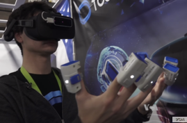VRtouch, by French company Go Touch VR, applies varying pressure to the user's fingertips as the user manipulates objects in the virtual world.