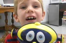Cosmobot has made speech therapy fun for Kevin Fitzgerald, 6.