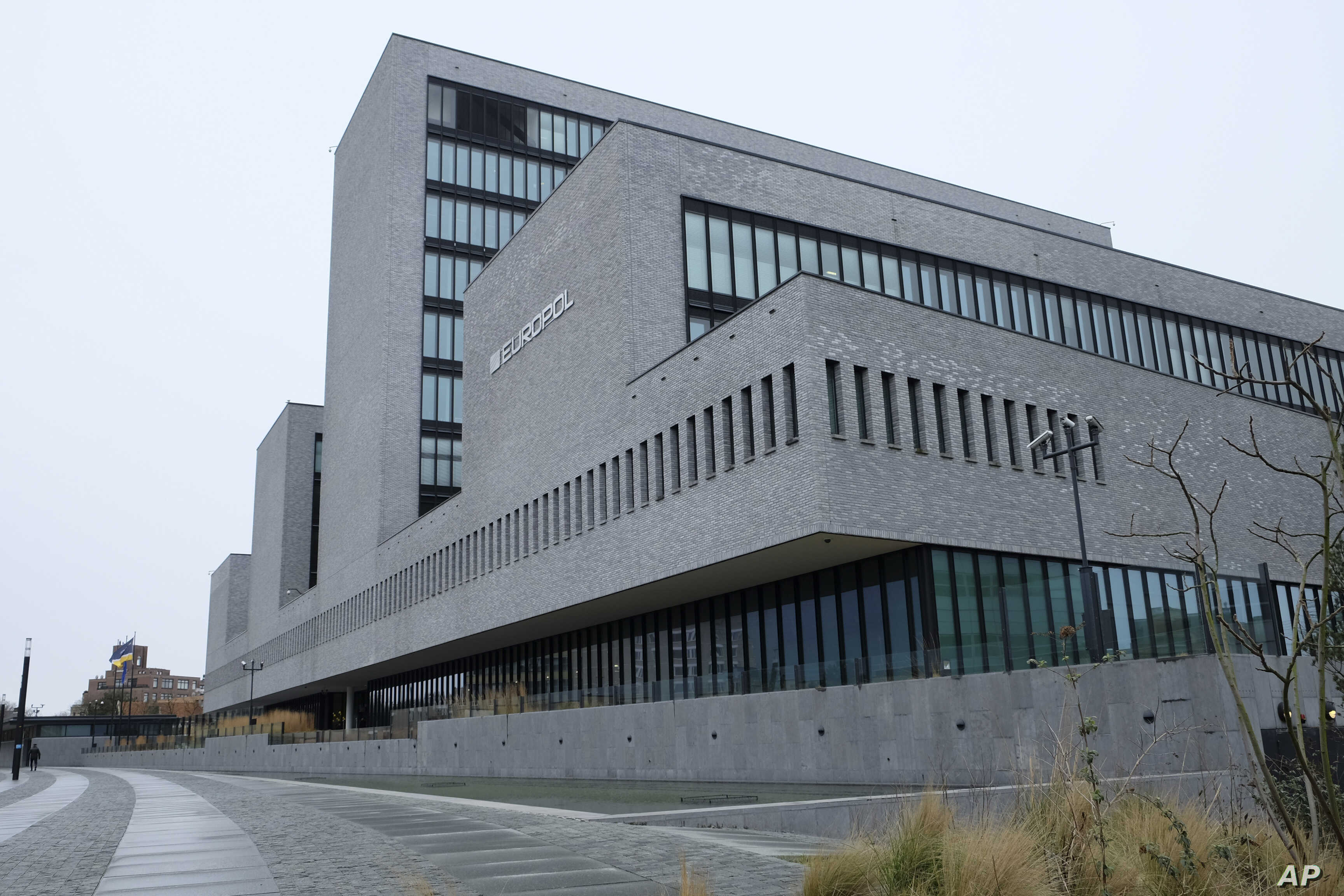 FILE - Exterior view of the Europol headquarters in The Hague, Netherlands, Feb. 22, 2016.