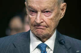 FILE - Zbigniew Brzezinski, of the Center For Strategic And International Studies, testifies on Capitol Hill in Washington, Jan. 21, 2015, before the Senate Armed Services Committee. Brzezinski was President Carter's national security adviser.