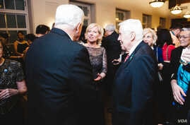Sister Cities International President and CEO Mary D Kane with Former U.S. Senator Richard Lugar at the organizations' 2015 Diplomatic Gala held at the U.S. Chamber of Commerce Hall of Flags, March 10, 2015.