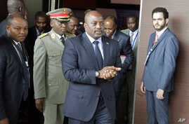 Democratic Republic of Congo President Joseph Kabila arrives for a southern and central African leaders' meeting to discuss the political crisis his country, in Luanda, Angola, Oct. 26, 2016.