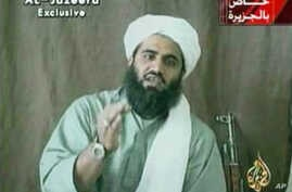 FILE -  Suleiman Abu Ghaith, Osama bin Laden's son-in-law and spokesman.