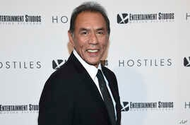 """FILE - In this Dec. 18, 2017 file photo, actor Wes Studi attends a special screening of """"Hostiles"""" in New York.  Studi, whose credits include """"Avatar,"""" """"The Last of the Mohicans"""" and """"Dances with Wolves,"""" will take the stage at Sunday's Oscars to pre"""