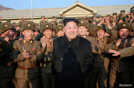 FILE - North Korean leader Kim Jong Un inspects a sub-unit under KPA Unit 1344 in this undated photo released by North Korea's Korean Central News Agency (KCNA) in Pyongyang, Nov. 9, 2016.