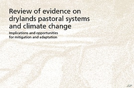 FAO's 'Review of Evidence on Drylands Pastoral Systems and Climate Change' report cover