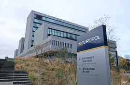 FILE - The headquarters building of European Union police Europol is seen in The Hague, Netherlands, Dec. 2, 2016.