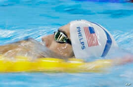 United States' Michael Phelps swims during a training session prior to the 2016 Summer Olympics in Rio de Janeiro, Brazil, Aug. 2, 2016.