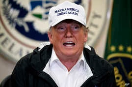 President Donald Trump speaks at a roundtable on immigration and border security at U.S. Border Patrol McAllen Station, during a visit to the southern border, Jan. 10, 2019, in McAllen, Texas.