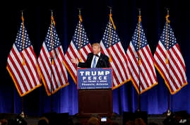 Republican presidential candidate Donald Trump speaks during a campaign rally at the Phoenix Convention Center, Aug. 31, 2016, in Phoenix, Arizona. After considering a softer position, Trump has no reverted to his original hard stance on immigration....