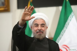 Iranian President-elect Hassan Rohani gestures to the media during a news conference in Tehran June 17, 2013. REUTERS/Fars News/Majid Hagdost  (IRAN - Tags: POLITICS PROFILE) ATTENTION EDITORS - THIS IMAGE WAS PROVIDED BY A THIRD PARTY. FOR  EDITORIA