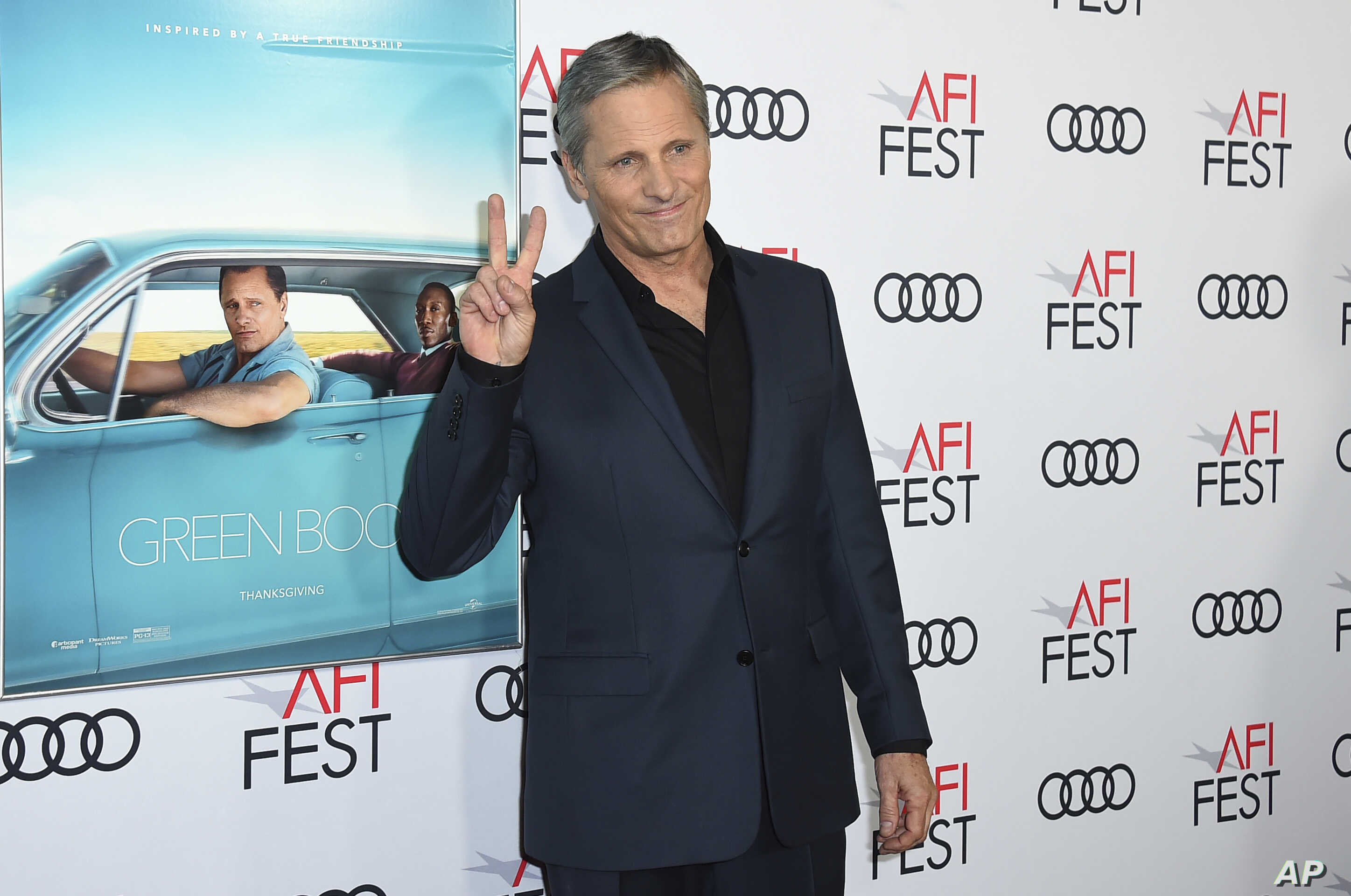 "FILE - Viggo Mortensen, a cast member in ""Green Book,"" attends the premiere of the film at the 2018 AFI Fest in Los Angeles, Nov. 9, 2018."