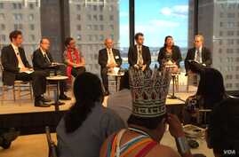 A panel discussion where government policymakers, corporate executives and indigenous leaders discussed deforestation and the indigenous stewardship of the forests of these resources as a way to combat climate change, promote justice and fight povert...