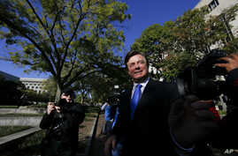 Paul Manafort leaves Federal District Court in Washington, Oct. 30, 2017.