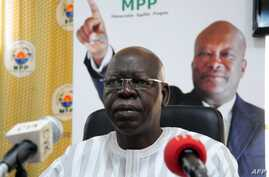 FILE - Salif Diallo, a former right-hand man of ousted president Blaise Compaore, was elected head of the national assembly on December 30, 2015.