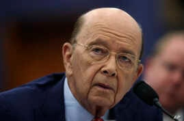 Commerce Secretary Wilbur Ross testifies before a House Committee on Appropriation subcommittee hearing on Capitol Hill in Washington, March 20, 2018.