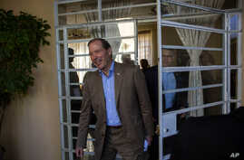 U.S. Senator Tom Udall, arrives at a press conference in Havana, Cuba, Wednesday, May 27, 2015.