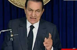 Mubarak Vows to Stay, Angering Protesters