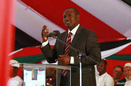 Kenya's Deputy President William Ruto addresses the nation during a special Inter-Religious Prayer Service for the people killed and injured in the recent Westgate shopping mall attack in the capital Nairobi October 1, 2013.