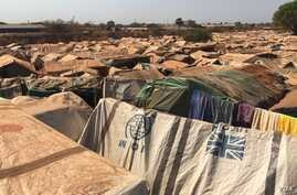 Overview of UN protection of civilians (PoC) site in Wau, Western Bahr el Ghazal, South Sudan, where approximately 29,000 IDPs stay. Dec. 8, 2016. (VOA/Jill Craig)
