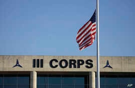 FILE - Army's III Corps headquarters at Fort Hood, Texas, Nov. 6, 2009.