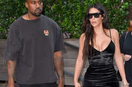 Kim Kardashian and Kanye West are seen in New York City, Sept. 14, 2016.
