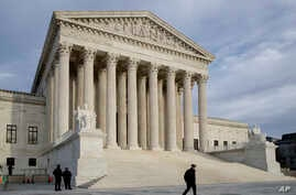 FILE - This Feb. 14, 2017, file photo shows the Supreme Court in Washington.