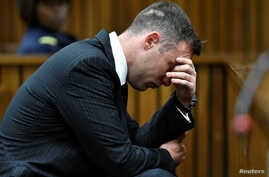 FILE - Olympian Oscar Pistorius attends his sentencing for the murder of Reeva Steenkamp at Pretoria High Court, South Africa, June 13, 2016.