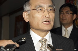 South Korea's top nuclear negotiator Wi Sung-lac (July 2011 file photo).