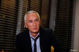 Jorge Ramos, anchor of Spanish-language U.S. television network Univision, talks to the media, after he and his team were released, in Caracas, Venezuela, Feb. 25, 2019.