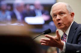 Attorney General Jeff Sessions speaks during a House Judiciary Committee hearing on Capitol Hill, Nov. 14, 2017, in Washington.