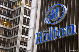 FILE - An exterior shot of the Hilton Midtown in New York June 7, 2013.