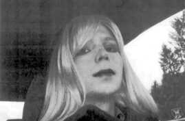 FILE - In this undated file photo provided by the U.S. Army, Pfc. Chelsea Manning poses for a photo wearing a wig and lipstick. Attorneys for the transgender soldier imprisoned in Kansas for sending classified information to the anti-secrecy website