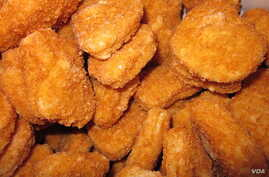 A recent analysis of two chicken nuggets from two popular restaurants revealed they only contained  40 to 50 percent meat.