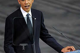 U.S. President Barack Obama delivers a speech after receiving the Nobel Peace Prize during a ceremony at the Oslo City Hall in Oslo, 10 Dec 2009