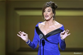 Former Olympian Caitlyn Jenner speaks on stage at the Glamour Women of the Year Awards where she receives an award, in New York, Nov. 9, 2015.