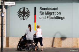 FILE - An office of the Federal Office for Migration and Refugees is pictured in Berlin, Germany.