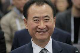 Wang Jianlin, chairman of Wanda Group, smiles at the Ninth Asian Financial Forum in Hong Kong, Jan. 18, 2016.