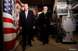 President Donald Trump visits the Civil Rights Museum in Jackson, Miss., Dec. 9, 2017.
