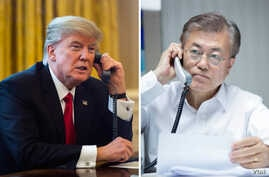 Donald Trump & South Korea president Moon Jae-in
