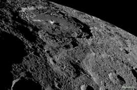 NASA's Dawn spacecraft image of the limb of dwarf planet Ceres shows a section of the northern hemisphere, Oct. 17, 2016. (Courtesy: NASA/JPL-Caltech/UCLA/MPS/DLR/IDA/Handout)