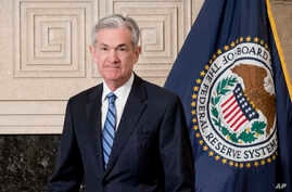 Jerome Powell arrives to take the oath of office as Federal Reserve Board chair at the Federal Reserve, Feb. 5, 2018, in Washington.