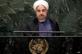 Iranian President Hassan Rouhani addresses the 69th session of the United Nations General Assembly at U.N. headquarters in New York, Sept. 25, 2014.