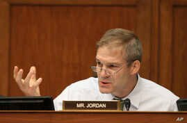 "Rep. Jim Jordan, R-Ohio speaks on Capitol Hill in Washington, June 15, 2016. ""The American people have had it,"" Jordan, a member of the House Freedom Caucus said, describing the Affordable Care Act."